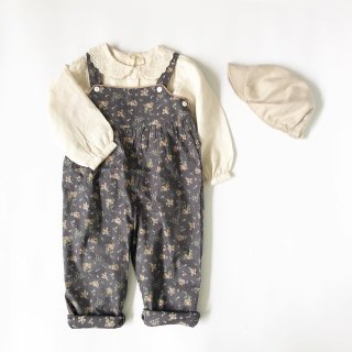 littlecottonclothes margo dungarees winter blue floral  9月15日21時より販売予定