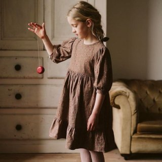 littlecottonclothes judith dress rose floral in oak 9月15日21時より販売予定