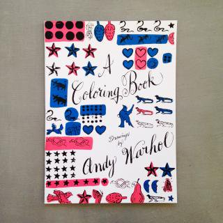 A coloring book Drawing by Andy Warhol