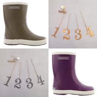 bergstein rainboots khaki / purple ご予約受付中