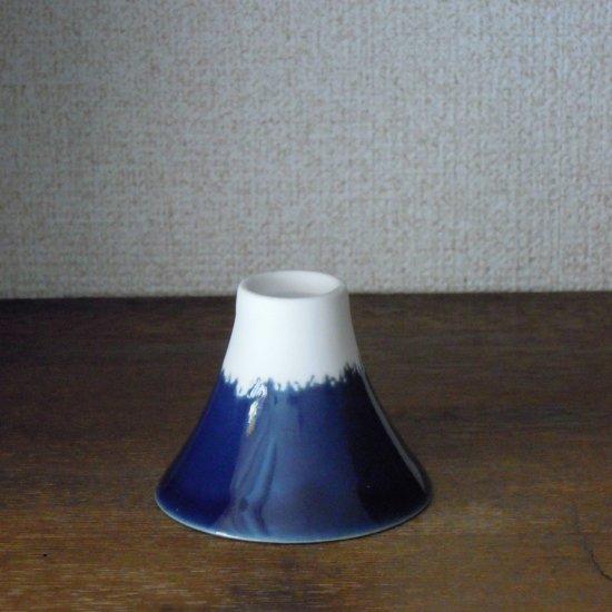 美濃焼 富士山おちょこ_青/Mt.fuji Blue)