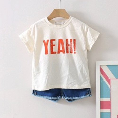 YEAH!かすれプリントT(アイボリー)