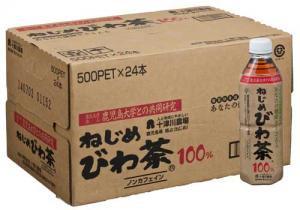 ねじめびわ茶ペットボトル500ml×24本 送料込