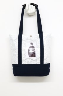 BANZAI EXCHANGEABLE PICTURE TOTE BAG(WHITE×NAVY)