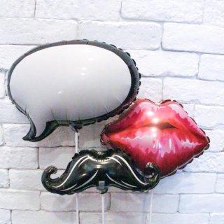 MUSTACHE & LIP & balloon STICK SET