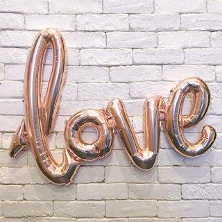 『love』 レターバルーン ローズゴールド