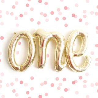 『one』 レターバルーン シャンパンゴールド