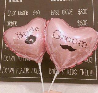 フォトプロップスバルーン Groom&Bride