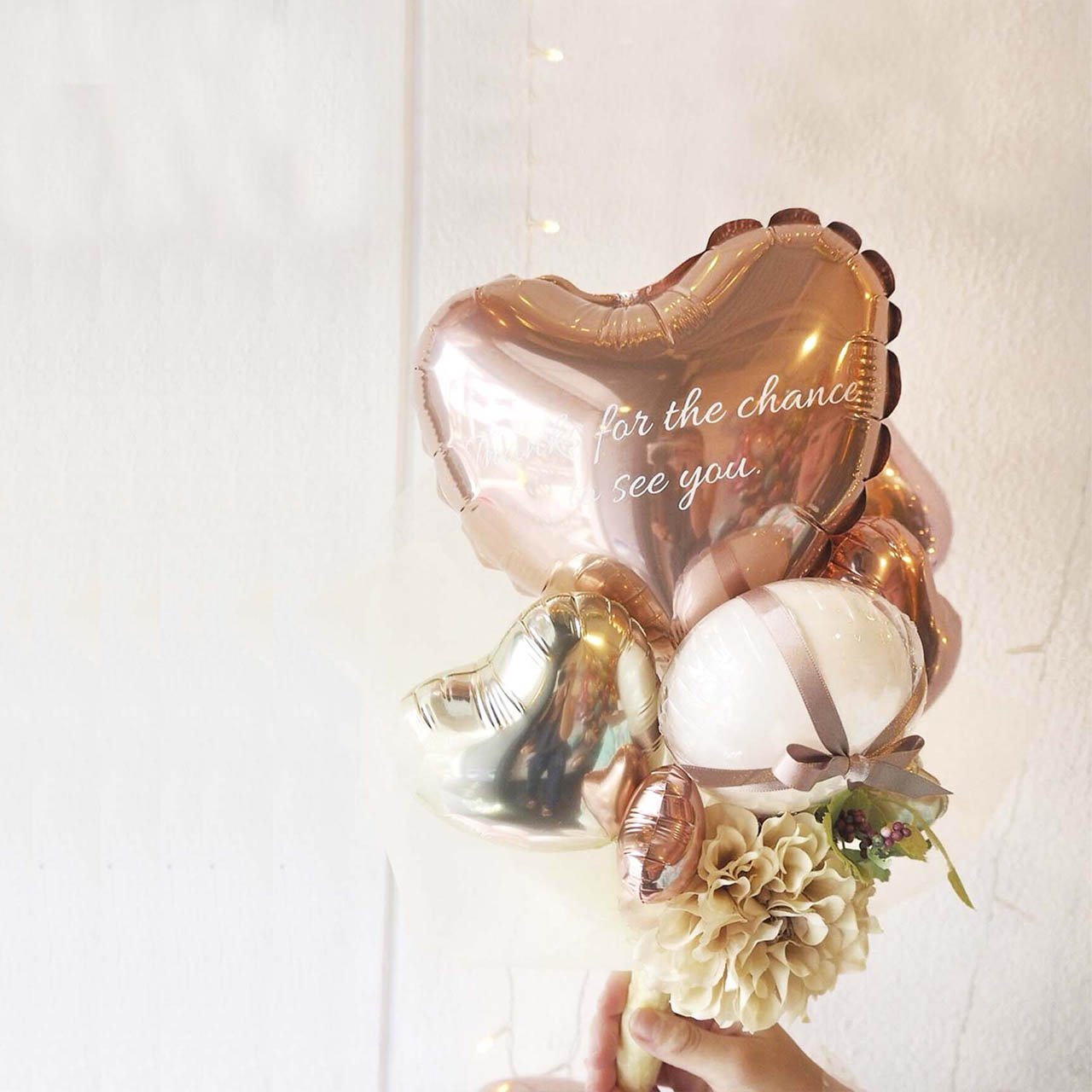 Classy ROSE GOLD BALLOON BOUQUET バルーンブーケ