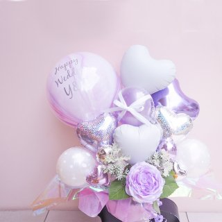 Pastel wedding パープルバルーン Table top type