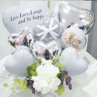 <img class='new_mark_img1' src='//img.shop-pro.jp/img/new/icons14.gif' style='border:none;display:inline;margin:0px;padding:0px;width:auto;' />White wedding バルーン Table top type