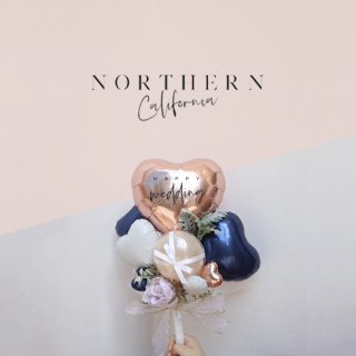 NORTHERN CALIFORNIA ROSE GOLD BALLOON BOUQUET バルーンブーケ
