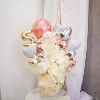 Phalaenopsis 胡蝶蘭 Rose Gold&Silver Table top type