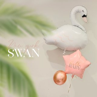 NEW YORK SWAN BALLOON  白鳥バルーン(プリント変更可能 )