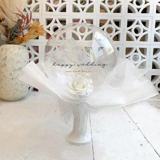 Flower Balloon Bouquet - White -フラワーバルーンブーケ