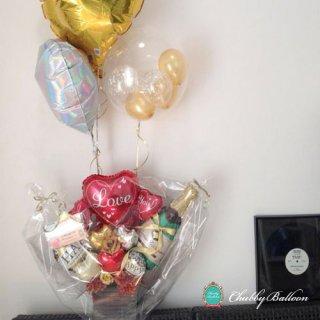 LOVE&GOLD シャンパンバルーン Float&Table top type