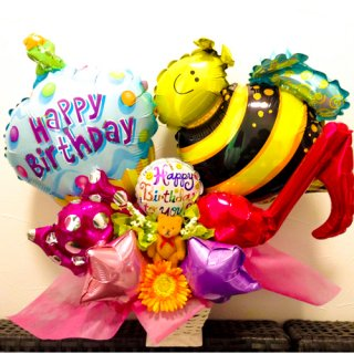 HAPPY BEE ピンク&レッド Table top type
