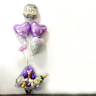 LOVE&PURPLE シャンパンバルーン Float&Table top type