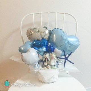 Seashell & Sea breeze Bearヒトデ 付きTable top type