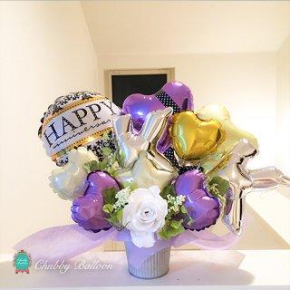 Happy anniversary イニシャル入りtable top type〜PUPLE & GOLD〜