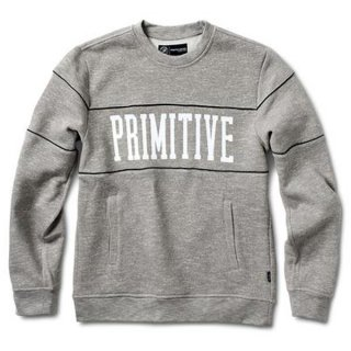 PRIMITIVE(プリミティブ) PIPED CREW (GREY)