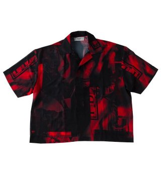 PARADOX(パラドックス) GRAPHIC POLO SHIRTS(SCARLET)