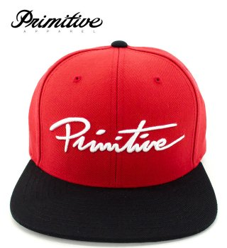 PRIMITIVE(プリミティブ)|NUEVO SCROPT SNAPBACK CAP (RED)