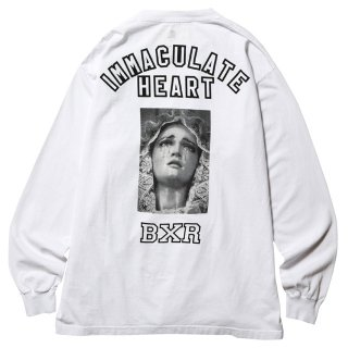 BORN X RAISED | IMMACULATE HEART L/S TEE (WHT)
