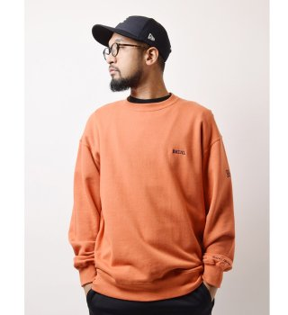 Backchannel(バックチャンネル)WIDE CREW SWEAT (ORENGE)