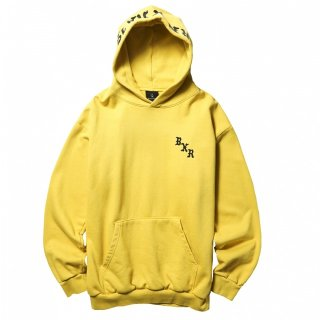 BORN X RAISED |BXR TONAL HOODY (MUSTARD YELLOW)