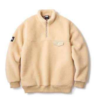 FTC / SHERPA FLEECE HALF ZIP PULLOVER (CREAM)