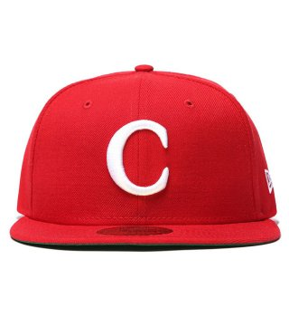 """CARROTS by Anwar Carrots (キャロッツ)""""C"""" NEW ERA 59/50 FITTED - RED"""