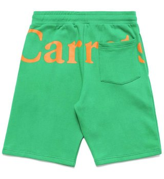 CARROTS by Anwar Carrots (キャロッツ)WORDMARK SWEAT SHORTS- GREEN