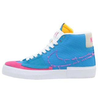 NIKE SB ZOOM BLAZER MID EDGE - LAZER BLUE/WATERMELON