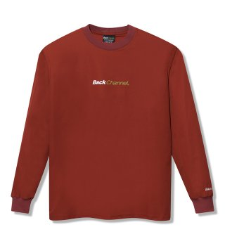Backchannel(バックチャンネル) WATER REPELLENT L/S T (RED)