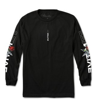 PRIMITIVE(プリミティブ) THREAT L/S TEE  (BLK)