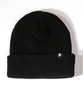 PRIMITIVE(プリミティブ)DIRTY P WAFFLE TWO-FER BEANIE (BLK)