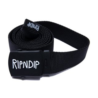 RIP N DIP (リップンディップ)Logo Web Belt (Black)