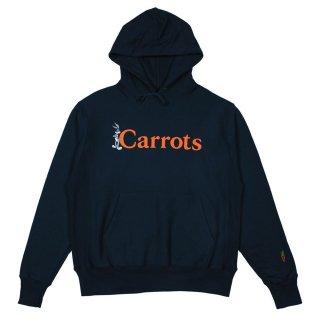 CARROTS by Anwar Carrots × LOONEY TUNES WORDMARK HOODIE (NAVY)