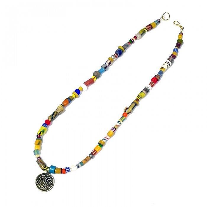 Virgin Gorda  Necklace(Ethiopian brass charm)