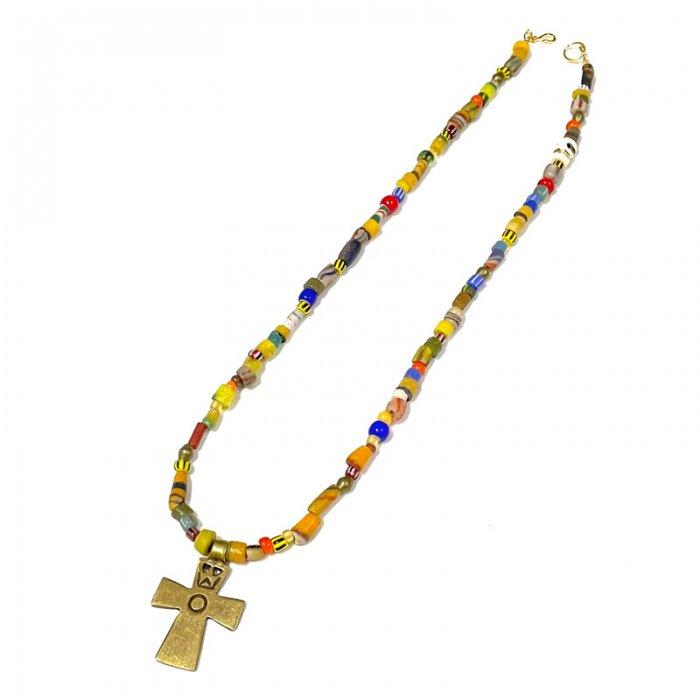 Virgin Gorda  Necklace (brass cross)