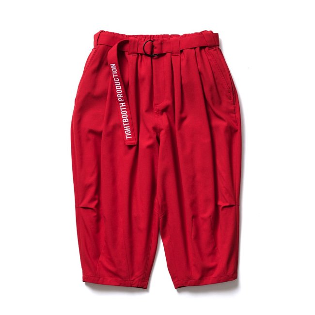 TIGHTBOOTH (タイトブース)CANAPA CROPPED PANTS (Red)