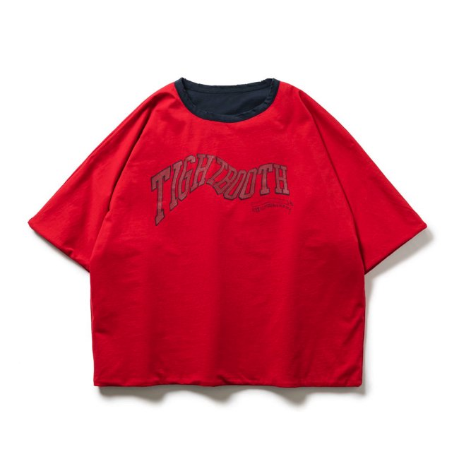 TIGHTBOOTH (タイトブース)ACID REVERSIBLE T-SHIRT (Red × Navy)