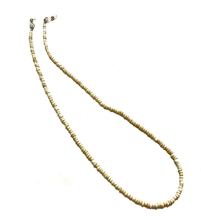 Beads Glass Code & Necklace(off white)