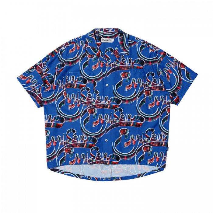 Evisen Skateboards ゑ(エビセン) VIDRO SHIRT (Blue)