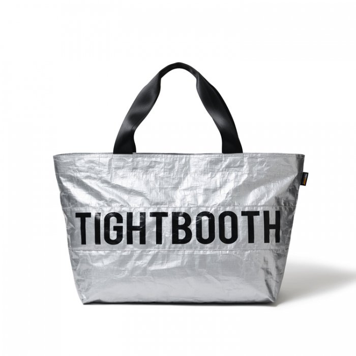 TIGHTBOOTH (タイトブース)TRASH TOTE BAG(Silver)