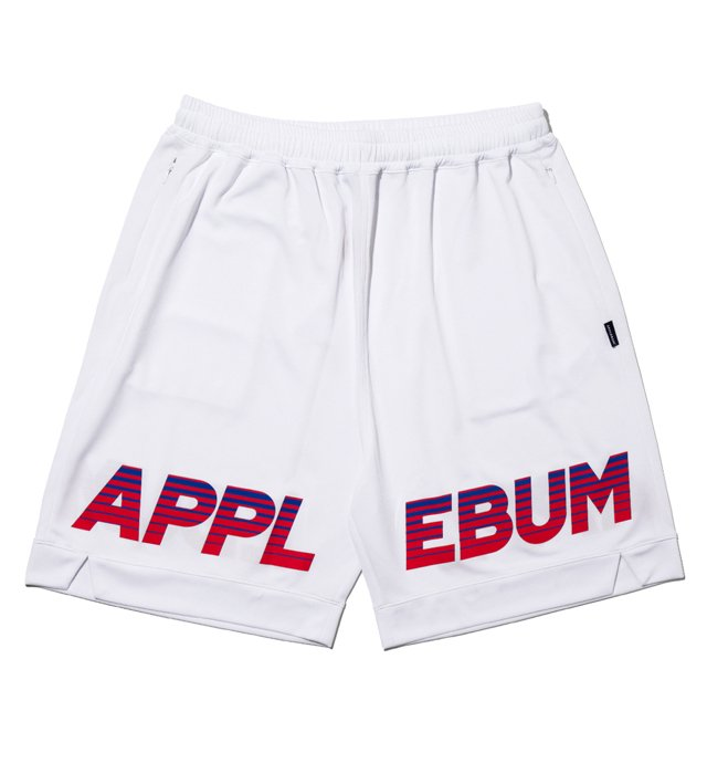 APPLEBUM(アップルバム)Logo Basketball Mesh Shorts(White)