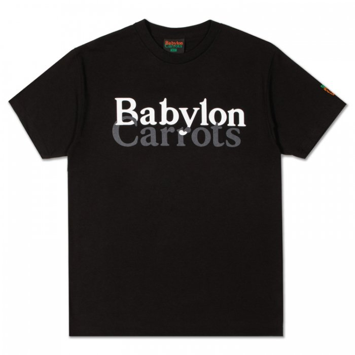 BABYLON L.A × Carrots  STACKED LOGO TEE (Black)