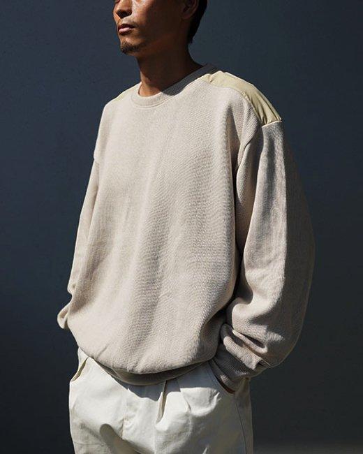 FAKIE STANCE(フェイキースタンス)|Cotton Sweater (Beige)