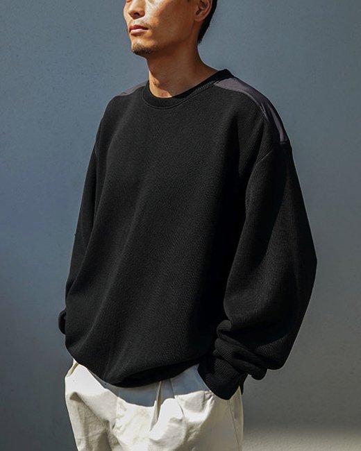 FAKIE STANCE(フェイキースタンス)|Cotton Sweater (Black)
